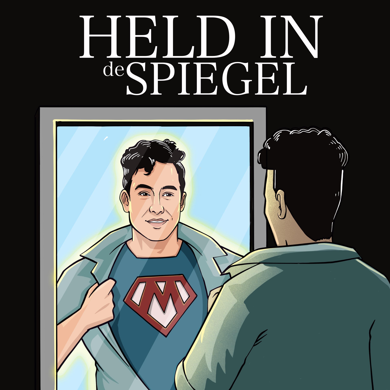 Held in de spiegel Podcast logo