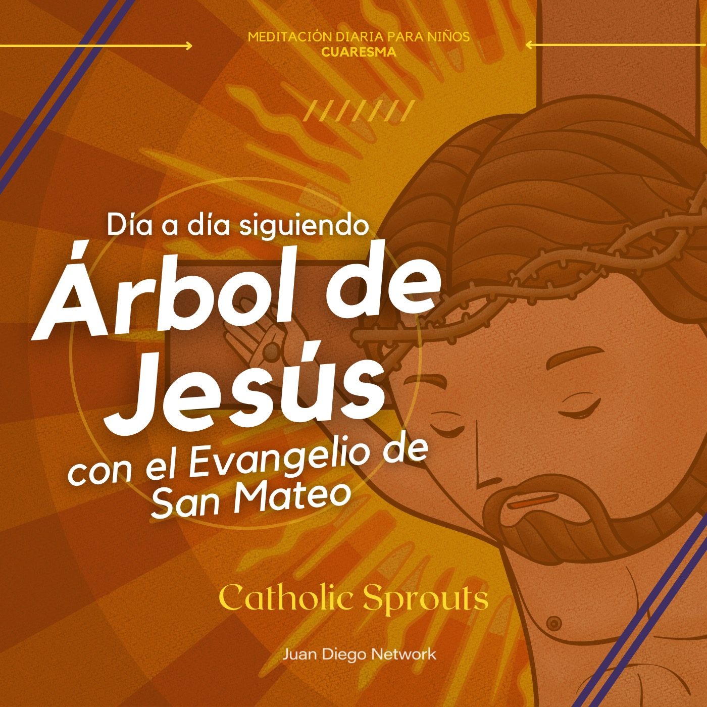 Artwork for podcast RETO: En familia día a día con el Árbol de Jesús hasta la Pascua de la mano del Evangelio de San Mateo con Catholic Sprouts