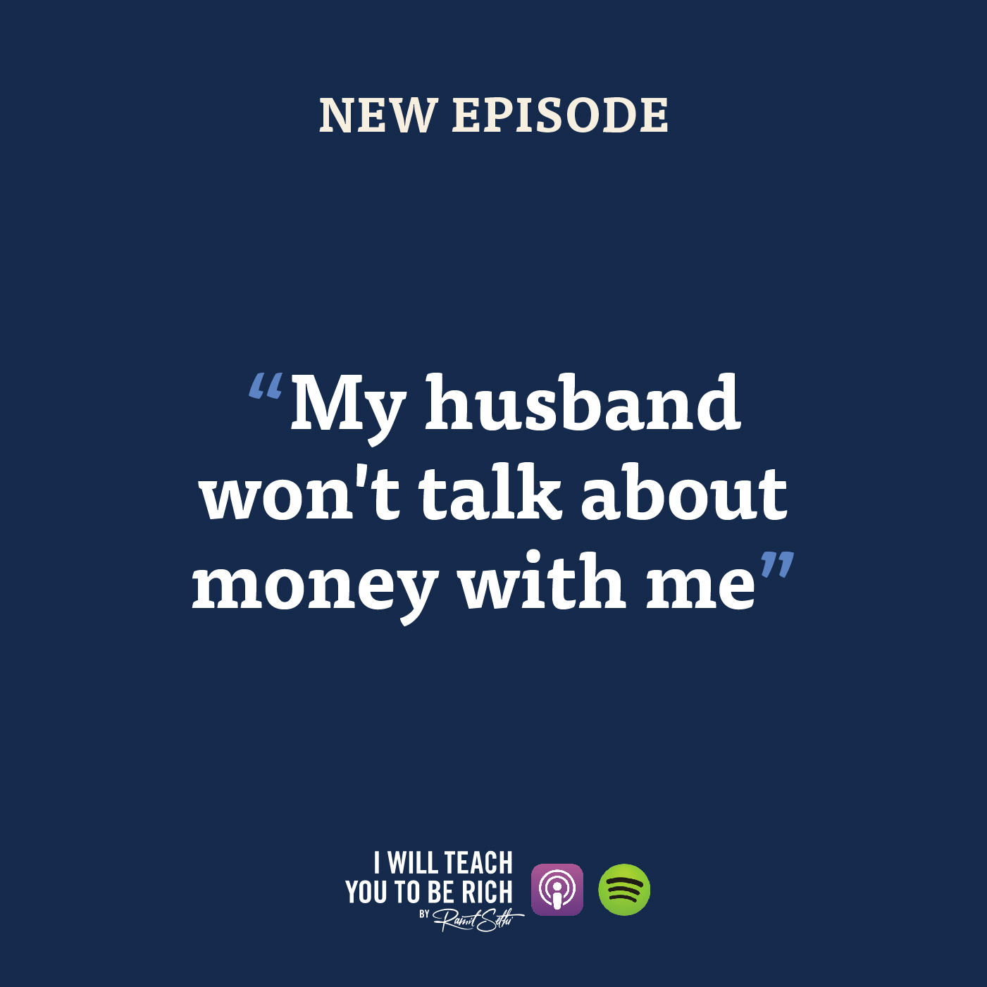 """12. """"My husband won't talk about money with me"""""""