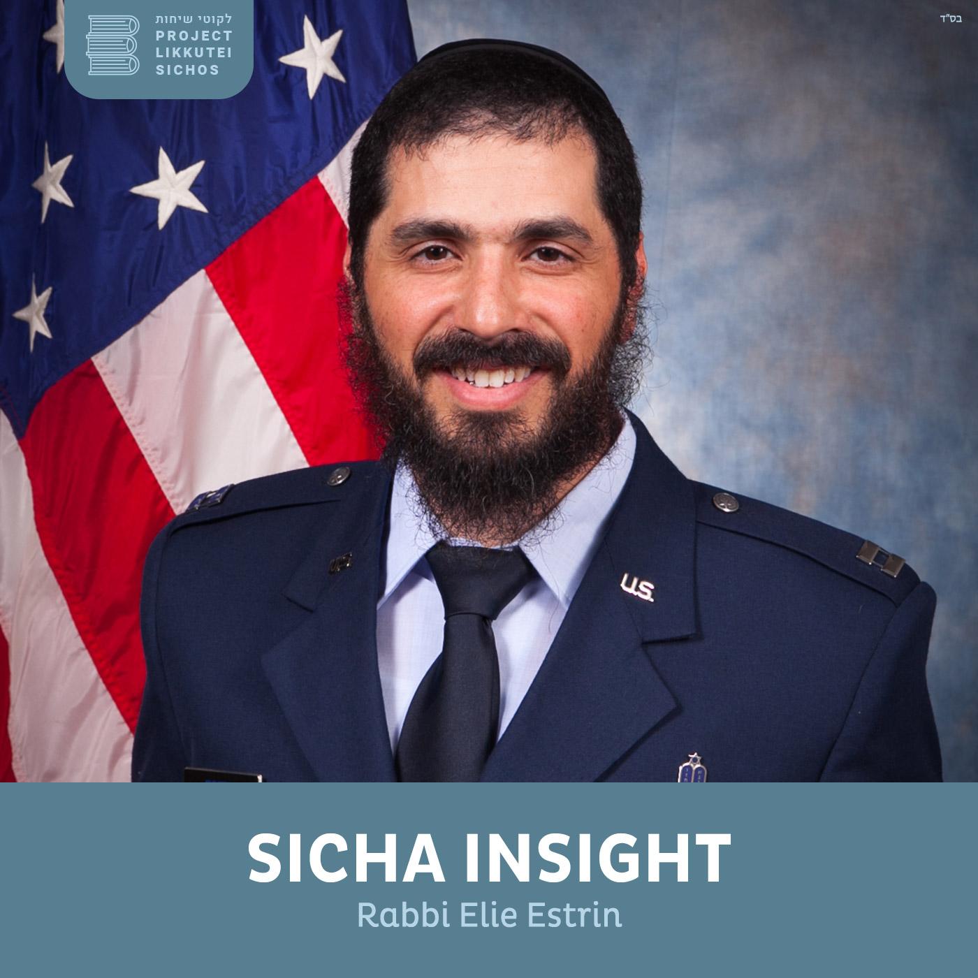 Artwork for podcast Sicha Insights, Rabbi Elie Estrin