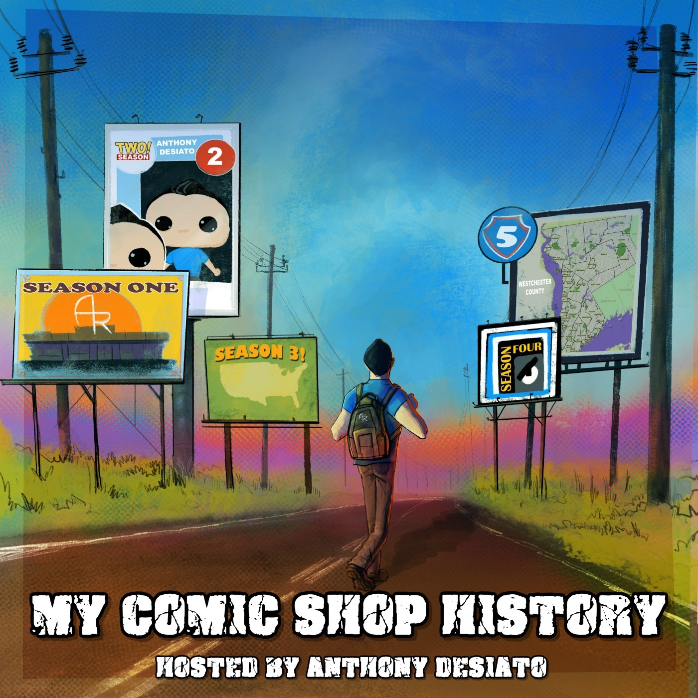 My Comic Shop History Logo