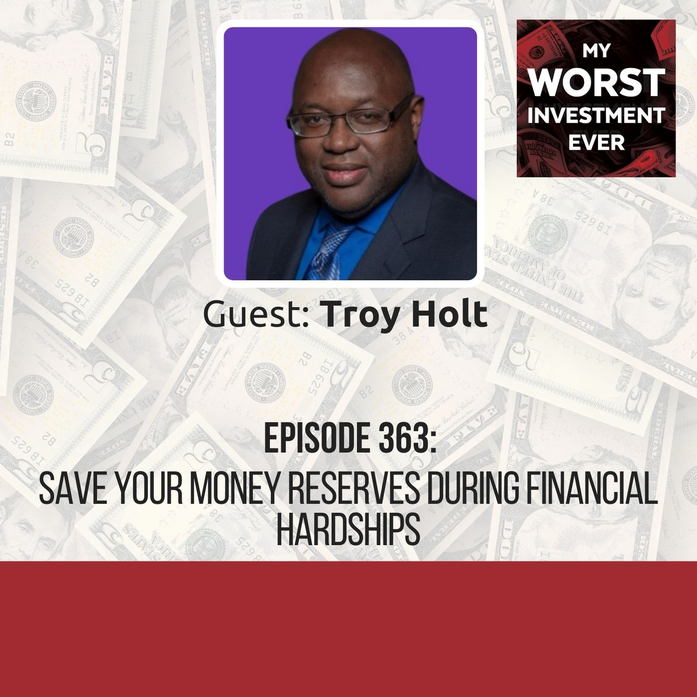 Troy Holt – Save Your Money Reserves During Financial Hardships