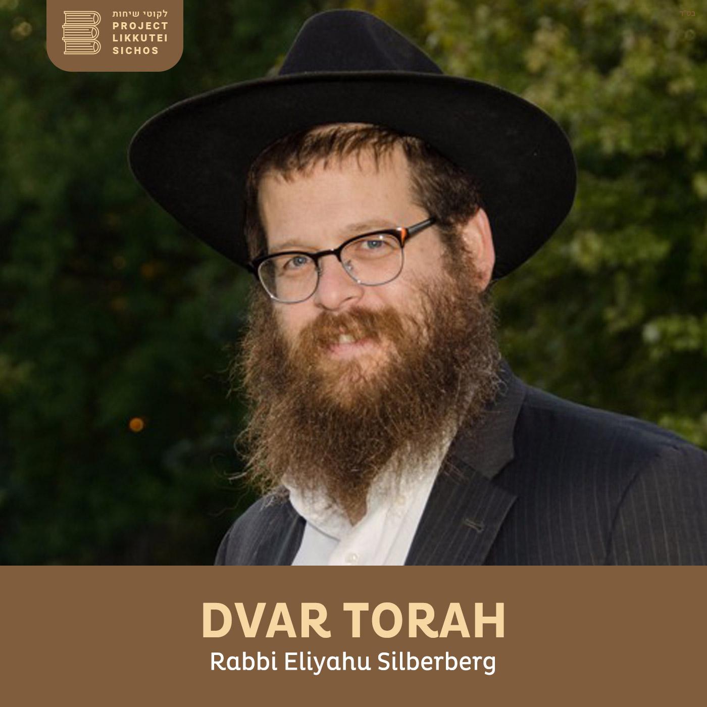 Artwork for podcast Dvar Torah, Rabbi Elyahu Silberberg
