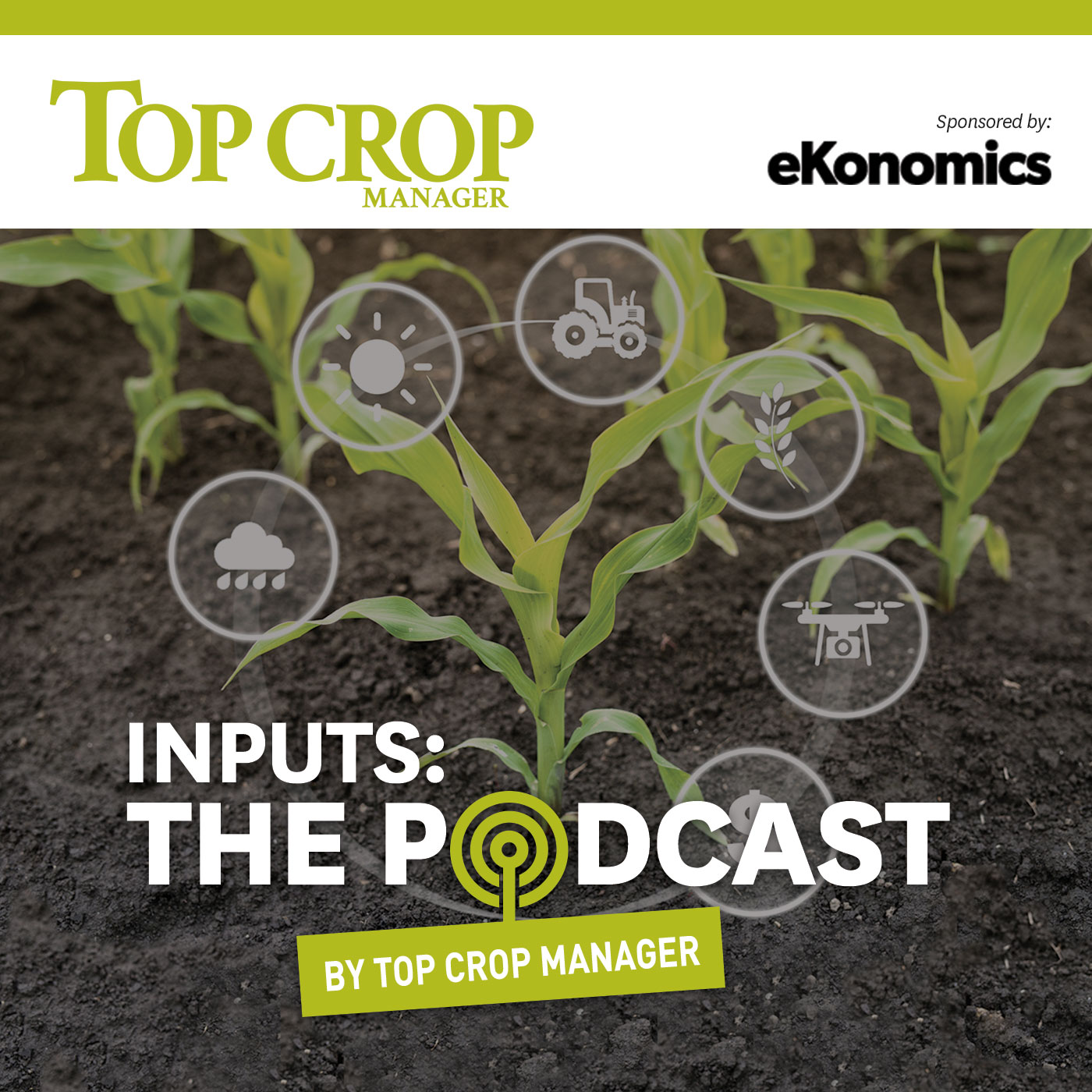 Artwork for podcast Inputs - by Top Crop Manager