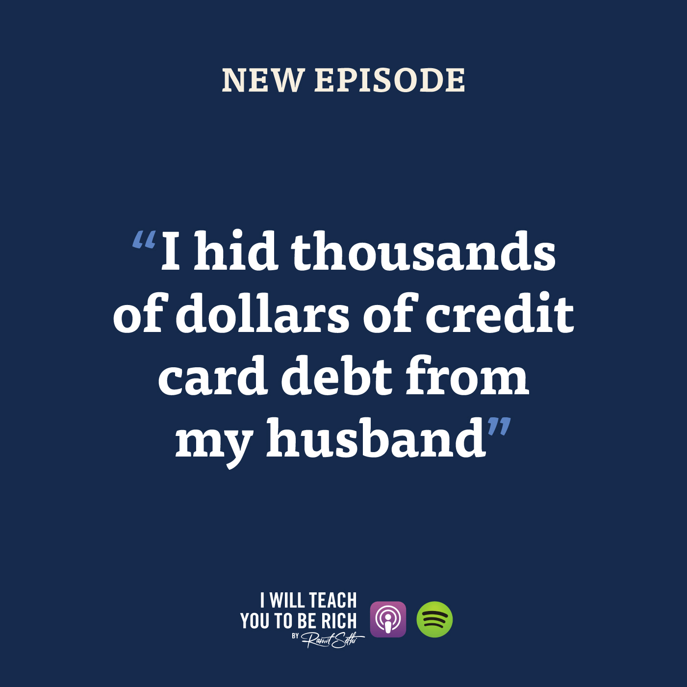 """9. """"I hid thousands of dollars of credit card debt from my husband"""""""