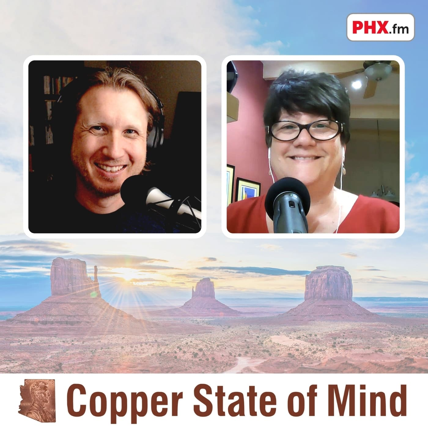 Artwork for podcast Copper State of Mind: public relations, media, and marketing in Arizona