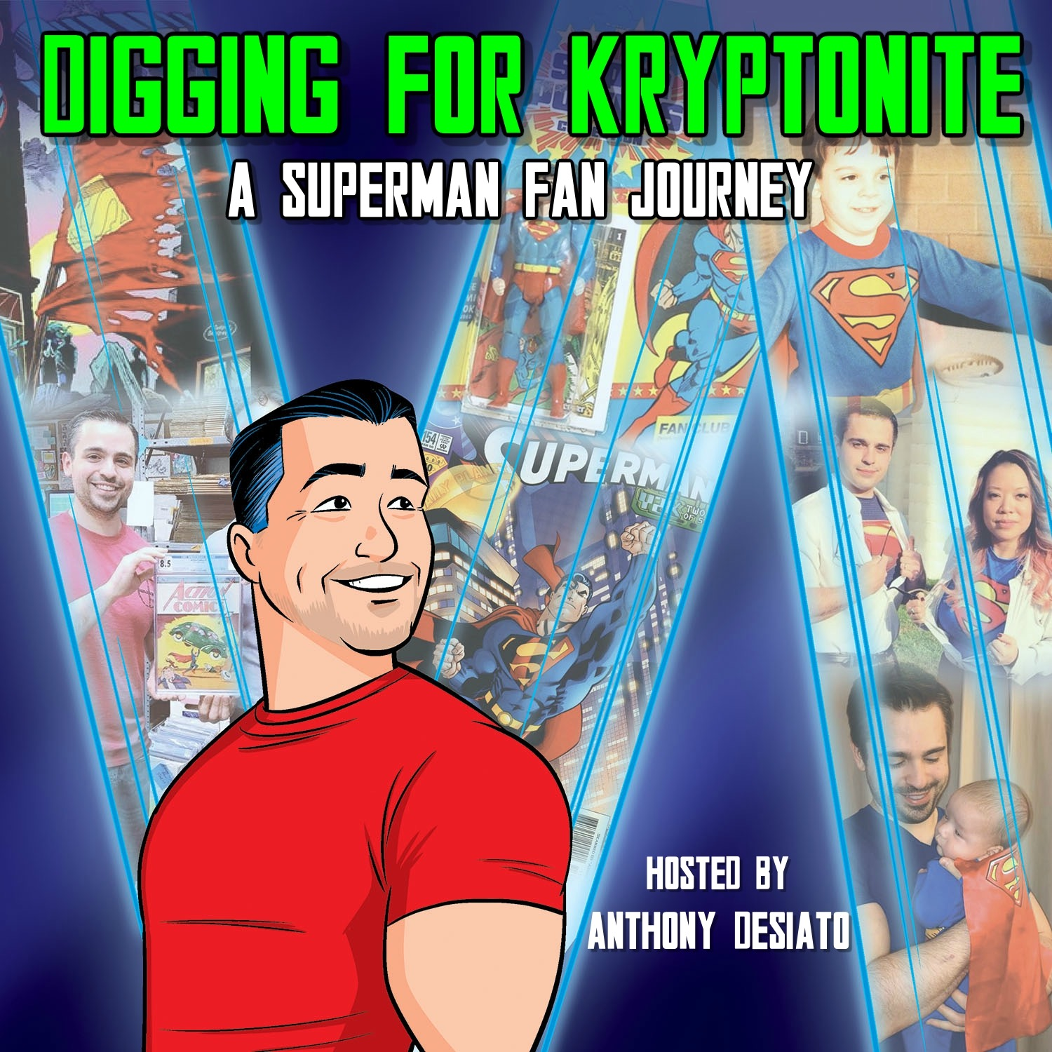 Show artwork for Digging for Kryptonite: A Superman Fan Journey