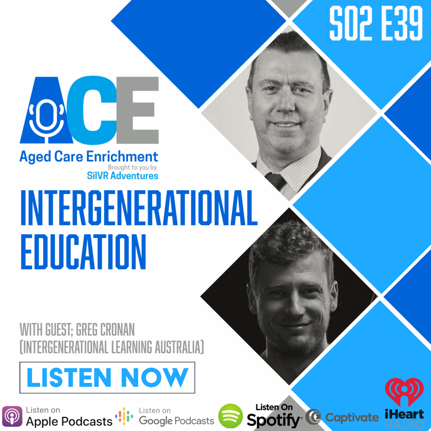 Artwork for podcast ACE - Aged Care Enrichment
