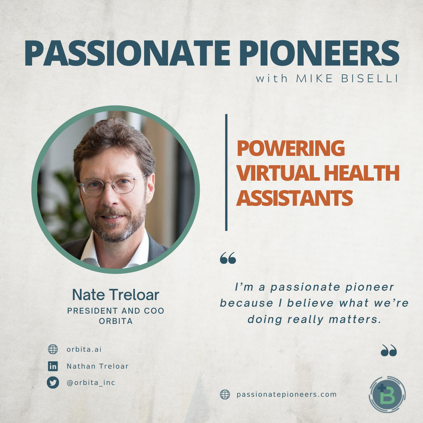 Artwork for podcast Passionate Pioneers with Mike Biselli